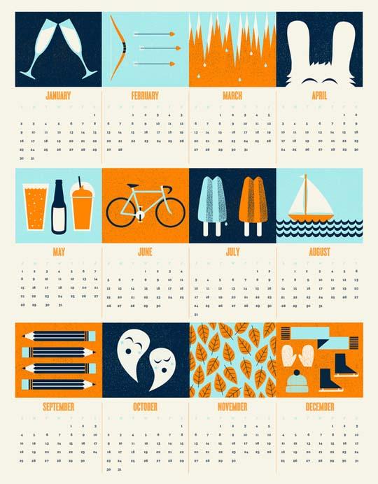 Calendar Design Html : Креативни календари