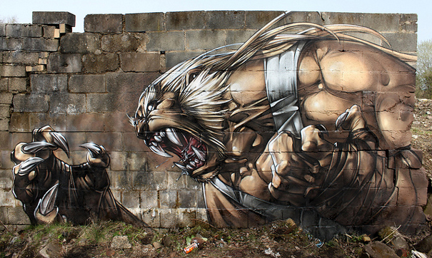 Madureira-animal-warrior-battle-street-art-graffiti