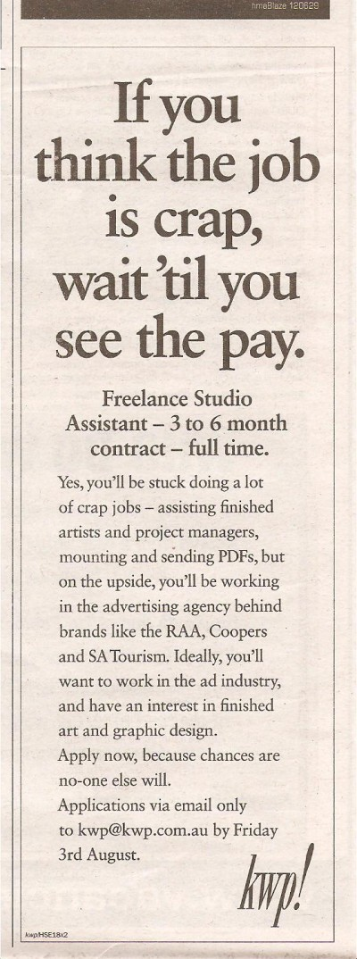 CrapJob-creative-job-ad