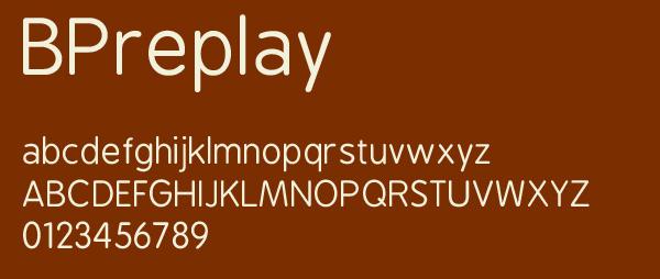 BPReplay Free Font Download